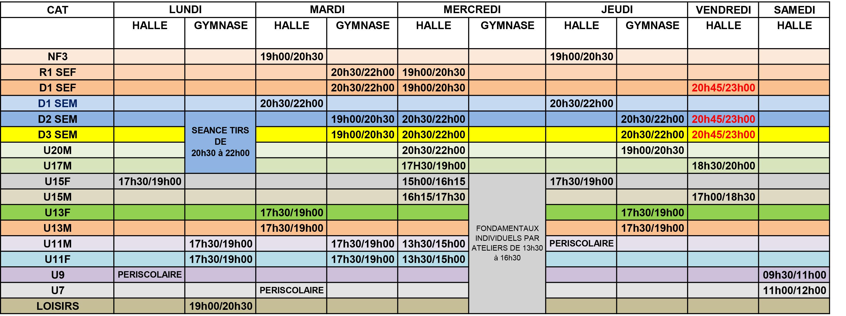 Planning Salle 2016-2017