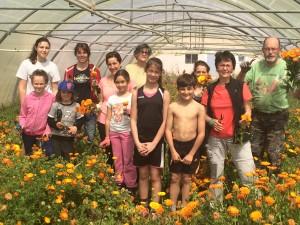 Les bénévoles à la cueillette